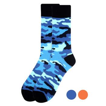 Men's Color Camo Novelty Socks - NVS19288