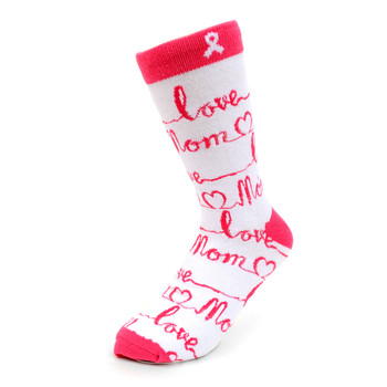 Women's Love Mom Novelty Socks - LNVS19344-WH