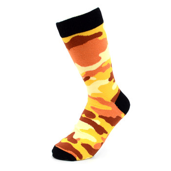 Women's Color Camouflage Novelty Socks - LNVS19288-Orange