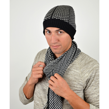 Men's Winter Knit Scarf and Hat Set - ASCS1003