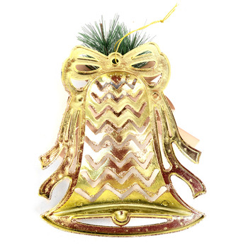 Christmas Gold Plastic Bell Ornament Décor - XWDCR5304