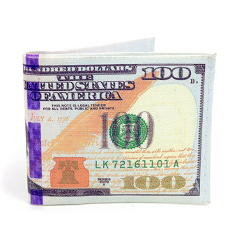 Bi-Fold $100 Dollars Bill Printed Men's Wallet - MLW5200