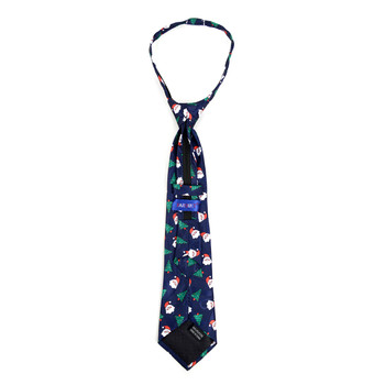 Boy's Santa Claus Christmas Zipper Tie - MPWZ-101