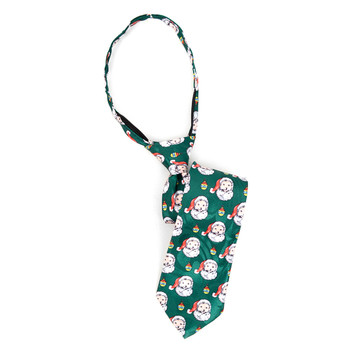 Boy's Santa Claus Christmas Zipper Tie - MPWZ-103