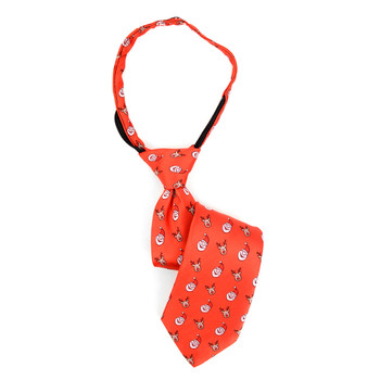 Boy's Christmas Santa Claus Red Zipper Tie - MPWZ-106