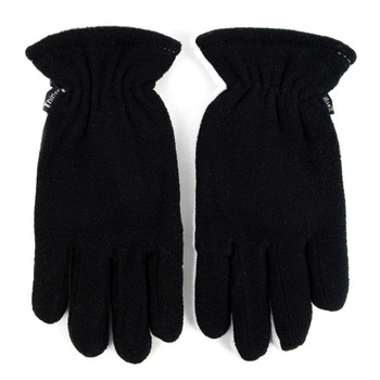 12pc Women's Fleece Winter Black Gloves - ZM5