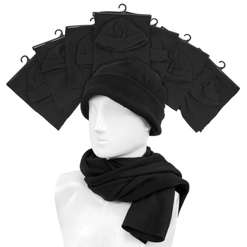 60pc Prepack Men's Fleece Scarf & Hat Set - WNTSET6571-60pc