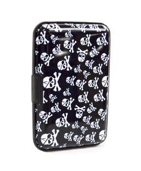 12pc Pack Card Guard Aluminum Compact Card Holder CASE025 (Skulls)