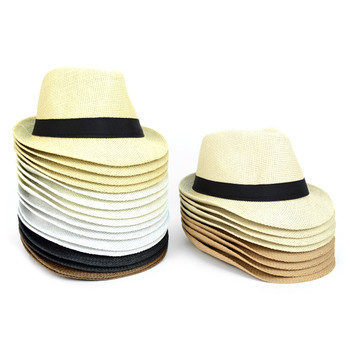 Spring Summer Straw Fedora Hats