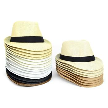 Spring Summer Straw Fedora Hats