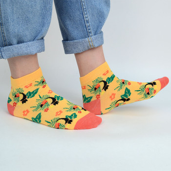 Assorted (6 pairs/pack) Women's Toucan Low Cut Socks - LN6S-1002