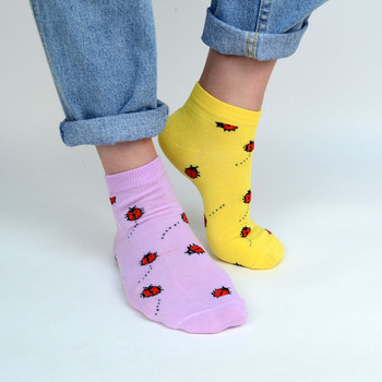 Assorted (6 pairs/pack) Women's Labybird Low Cut Socks - LN6S-1003