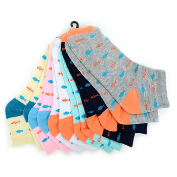 Assorted (6 pairs/pack) Women's Fish Low Cut Socks - LN6S-1004
