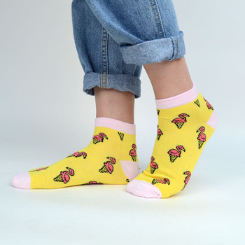 Assorted (6 pairs/pack) Women's Flamingo Ice Cream Low Cut Fun Socks - LN6S-1007
