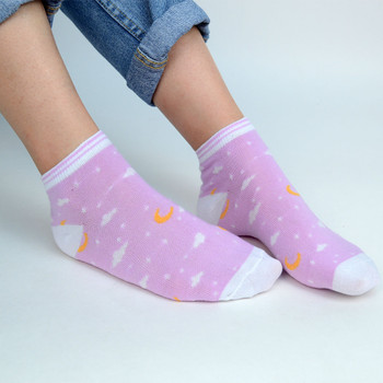 Assorted (6 pairs/pack) Women's Moon Sky Low Cut Socks - LN6S-1008