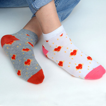 Assorted (6 pairs/pack) Women's Heart Valentine's Day Low Cut Fun Socks - LN6S-1009