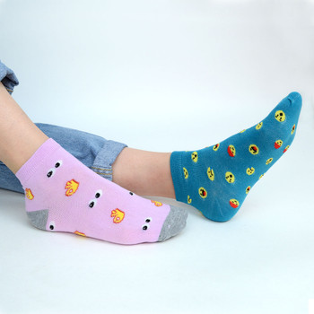 Assorted (6 pairs/pack) Women's Emojis Low Cut Fun Socks -LN6S-1012
