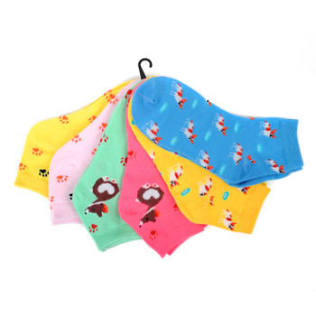 Assorted (6 pairs/pack) Women's Dog Low Cut Fun Socks -LN6S-1014