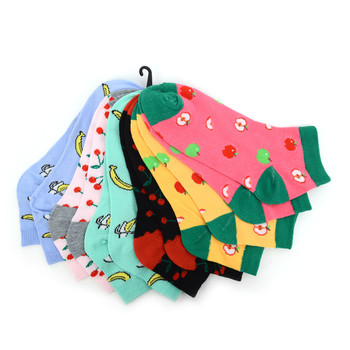 Assorted (6 pairs/pack) Women's Fruits Low Cut Fun Socks -LN6S-1015