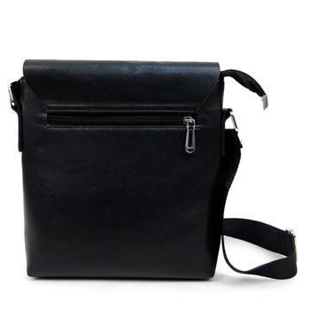 PU Leather Black Crossbody Messenger Bag - FBG1834