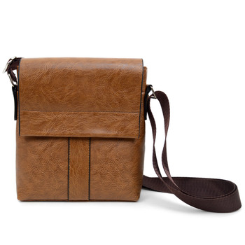 PU Leather Brown Small Crossbody Messenger Bag - FBG1836-LTBR