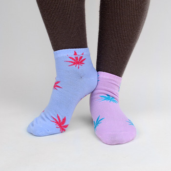 Assorted (6 pairs/pack) Women's Low Cut Marijuana Socks - LN6F1640-PT