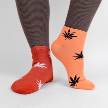 Assorted (6 pairs/pack) Women's Low Cut Marijuana Socks - LN6F1642-VT