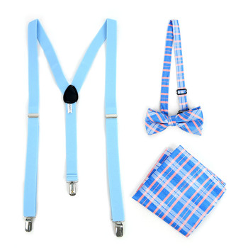 12pc Assorted Men's Clip-on Suspenders, Patterned Bow Tie and Hanky Sets - FYBTHSU-12ASST-A