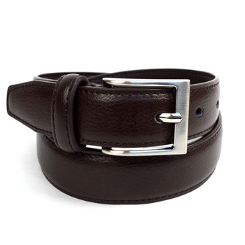 Boy's Genuine Leather Dress Brown Belt - BOYB0602-BR