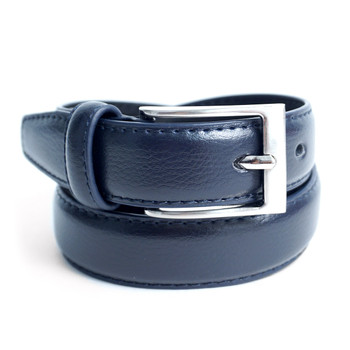 Boy's Genuine Leather Dress Navy Belt - BOYB0602-NV
