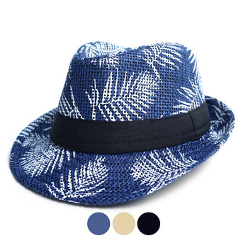Tropical Palm Leaves Kid's Fedora Hat - BF180600