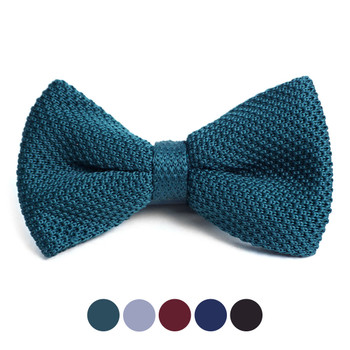 Men's Solid Knitted Bow Tie - KNBT1200