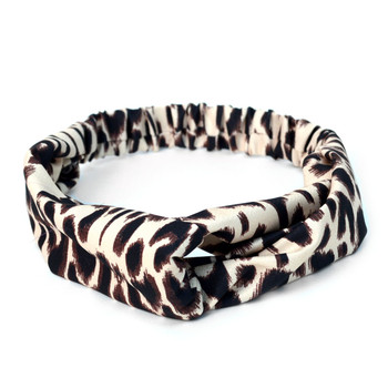 12pc Assorted Ladies Criss Cross Animal Print Summer Headbands - 12EHB1005-AP