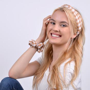6pc Assorted Ladies Summer Headbands with Scruchy Set - 6EHST-1