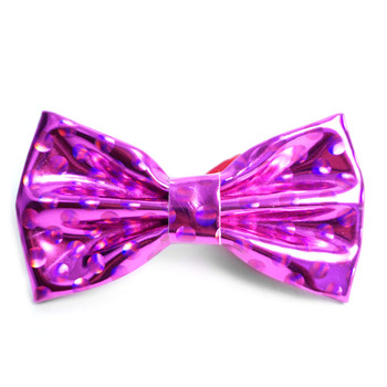 Men's Metallic Fuchsia PU Bow Tie - MBT-FA