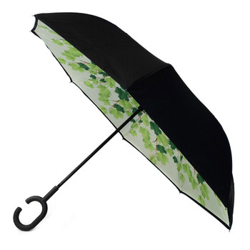 Green Leaves Double Layer Inverted Umbrella - UM18069