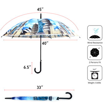 Around the World Monuments Plastic Canopy Umbrella - UM18075