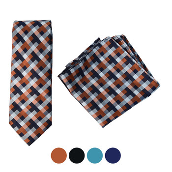 Geometric Microfiber Poly Woven Tie & Hanky Set - MPWTH1830-33