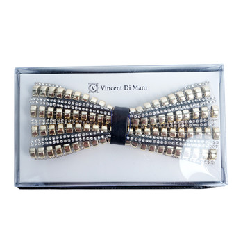 Gold Beads & Silver Stones Men's Bow Tie - RBT1200