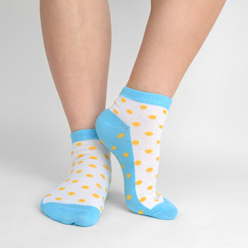 Assorted (6 pairs/pack) Women's Polka Dots Low Cut Socks - LN6F1638