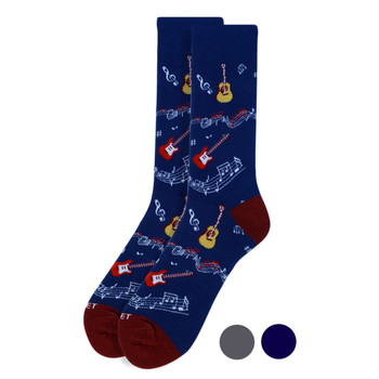 Men's Guitar & Music Notes Premium Collection Novelty Socks - NVPS2003