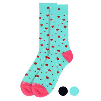 Men's Love Heart Premium Collection Novelty Socks - NVPS2009