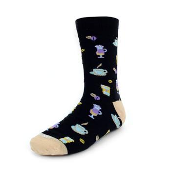 Men's Tea Party Premium Collection Novelty Socks - NVPS2014-BK
