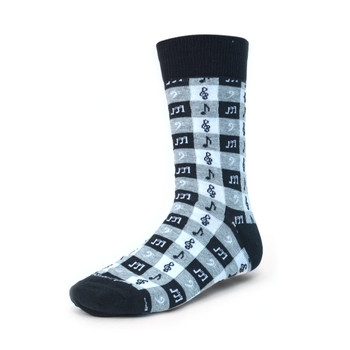 Men's Music Note Premium Collection Novelty Socks - NVPS2018