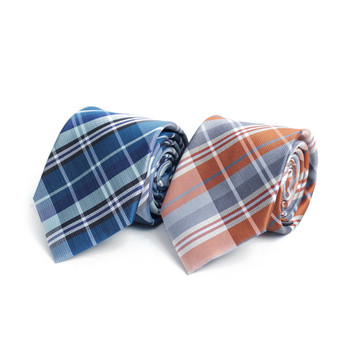 Plaid Microfiber Poly Woven Tie - MPW6918