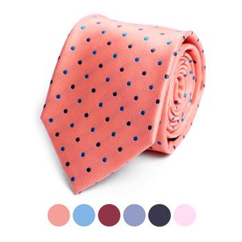 Polka Dots Microfiber Poly Woven Tie - MPW6915