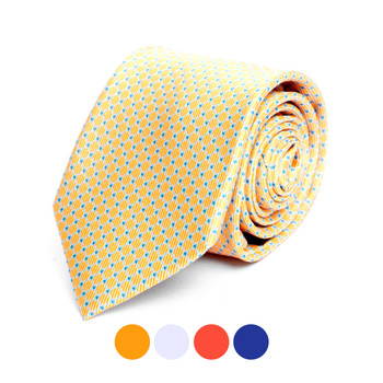 Dots Microfiber Poly Woven Tie - MPW6912