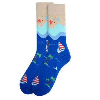 Men's Summer Beach Novelty Fun Socks - NVS19404