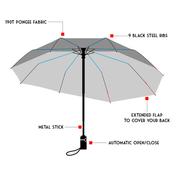 Backpack Protecting Folding Umbrella - UM5032