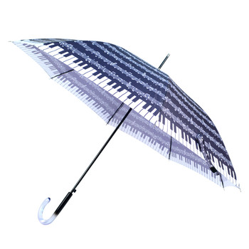 Music Note Printed Umbrella - UM5035-BK